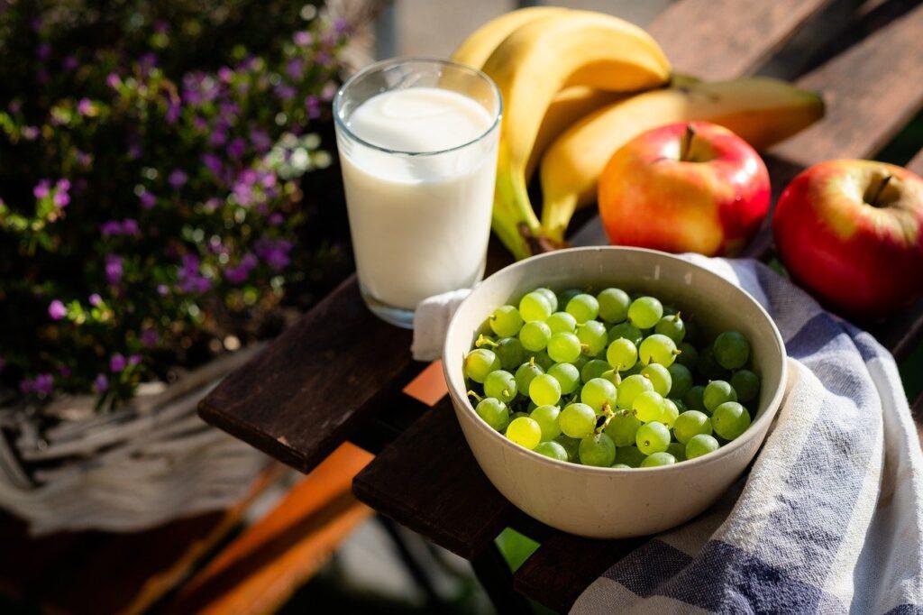 healthy, food, fruits