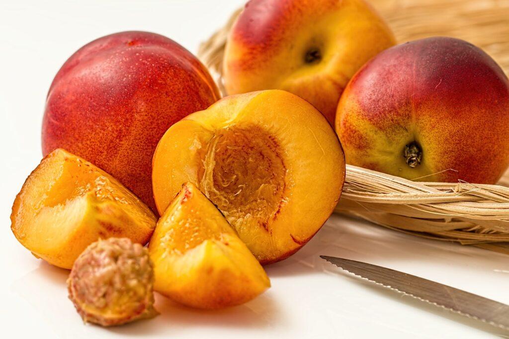 peach, fruit, food
